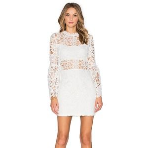 Endless Rose Willamette White Lace Cutout Dress